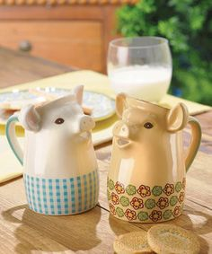 """This Mini Pig Pitcher Set by Grasslands Road is perfect! <a class=""""pintag searchlink"""" data-query=""""%23zulilyfinds"""" data-type=""""hashtag"""" href=""""/search/?q=%23zulilyfinds&rs=hashtag"""" rel=""""nofollow"""" title=""""#zulilyfinds search Pinterest"""">#zulilyfinds</a>"""