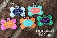 Personalized Dog Bone ID Tag Custom Pet Name Tag  Monogram Your Pet Personalized Pet Tag  Pet ID Design Your Own Id Tag Pet Name Made in USA