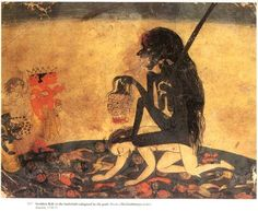 mortem-et-necromantia: Kali of the cremation grounds being worshipped by Brahmaji, Shiva & Vishnu. Kali Shiva, Kali Hindu, Kali Ma, Shiva Shakti, Hindu Art, Lord Shiva, Mother Kali, Divine Mother, Mother Goddess