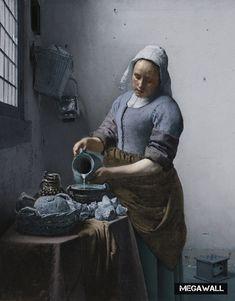 Uit een collectie beroemde schilderijen geproduceerd door MEGAWALL