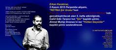 """2015-2016 SEZONU, 5. HAFTA ETKİNLİĞİ : 1) """"BİR ŞİİRDEN BİR ŞAİRE: 'OTUZ BEŞ YAŞ' VE CAHİT SITKI TARANCI"""" 2) """"'OLVİDO'DAN 'FAHRİYE ABLA'YA AHMET MUHİP DIRANAS ŞİİRLERİ"""""""