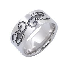 Scorpion band ring sterling silver scorpion ring by ASHYL on Etsy, $54.00