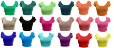 New Women's Fashion Crop Top S/S Mid riff T-Shirt Club/Party Wear Scoop Neck #Cleo121BlvdBlingBling #CropTop #Clubwear