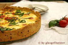 caprese! eine tomaten-mozzarella-quiche für den italiener in dir!   glasgeflueste