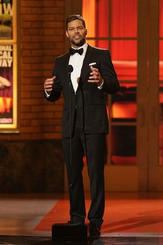 Singer Ricky Martin speaks onstage during the 64th Annual Tony Awards at Radio City Music Hall on June 13, 2010 in New York City.
