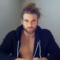 Not many men can pull off the bun.