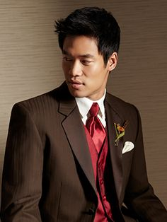 MOORES : clothing for men: [[ tuxedo rental ]] Different color vest and tie though.... The suit is nice