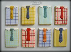shirts and tie cookies for dad