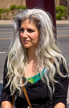 young woman with gray hair by ed's point of view, via Flickr