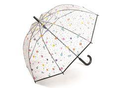 Happy Rain Transparent Dots & Stars průhledný deštník s barevnými puntíky - Značkové deštníky Rain, Dots, Stars, Happy, Rain Fall, Stitches, The Dot, Star, Polka Dots