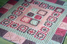 Crochet Baby Blanket Pretty In Pink | thegrangerange
