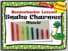 Click now to instantly download your fun boomwhacker music. Your class will love playing this exciting song to review their music notes. Snake Charmer music is ready to print and use. It includes: *An Exciting Boomwhacker Song *Fun Song to play on Recorder or Boomwhackers*Easy Rhythm and Melody Ostinato Parts *Great for Music Centers or for the entire class *Useful Teacher Tips If you like this product, please take a minute to rate this product below and click on the green star to follow…