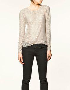 #Zara Silk #lace t-shirt