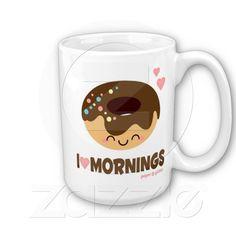 kawaii mugs | Kawaii Donut Coffee Mug