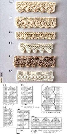 Crochet Shell Stitch Lots Of Fabulous Free Patterns - Crochet Ideas - Louisa Baby Knitting Patterns, Crochet Edging Patterns, Knitting Stiches, Knitting Charts, Lace Knitting, Stitch Patterns, Knitting Needles, Col Crochet, Crochet Diy