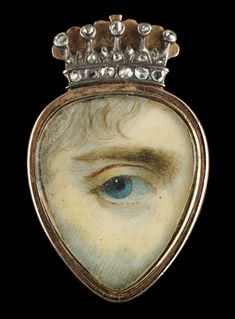 In the 18th and 19th centuries, wealthy British and European lovers exchanged 'eye miniatures…love tokens so clandestine that even now it is almost impossible to identify their recipients or the people they depict. They were meant to be worn inside the lapel, near the heart.