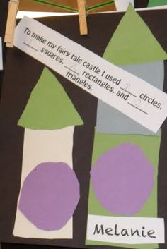 math and shapes in the fairy tale theme