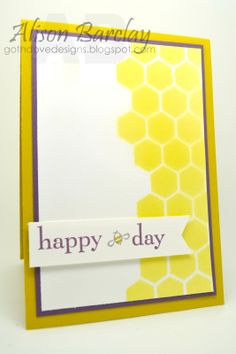 Gothdove Designs - Alison Barclay Stampin' Up! ® Australia : Stampin' Up! Australia - Color Coach Card #49 - Happy 'Bee' Day!