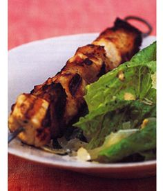 """11 Tasty Recipes for Camping (Potato Hobos with Pancetta and Parmesan Cheese, Grilled Chicken Caesar on a Skewer, Grilled Skillet Nachos, Hershey's 'Smores, Tuna Pesto Quesadilla, Dijon Grilled Pork Chops, Grilled Pizza, Honey Ricotta Fondue with Fruit Dippers, Smokey Grilled Cheese, Grilled Chicken & Peaches with Balsamic Glaze, Fruit and Cheese """"Campfires"""")"""