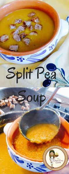 Winter warming Split Pea Soup.  Gluten Free, Wheat Free. Check out my blog for the recipe!