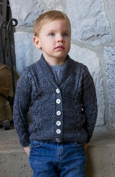 Jones cardigan knitting pattern for child's and men's sizes, by designer Tin Can Knits.  A knit for the whole family, get cozy in these cardigans. Get the downloadable PDF from Loveknitting.