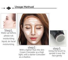 Foundation Contouring, Face Contouring, Quick Beauty Hacks, Beauty Skin, Beauty Makeup, It Cosmetics Concealer, Too Faced Concealer, Unique Makeup, Contour Brush