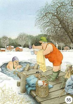 New single postcard by Inge Look old ladies winter swimming Old Lady Humor, Old Folks, Image Originale, Look Older, Norman Rockwell, Whimsical Art, Old Women, Illustrators, Funny Pictures
