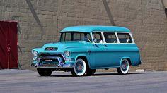 1956 GMC Deluxe Suburban   #Mecum #Monterey
