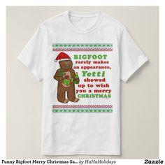 Funny Bigfoot Merry Christmas Sasquatch Yeti / Yetti Pun T-Shirt :)