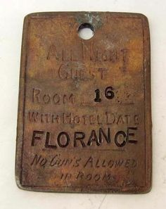 Soiled Doves of Dodge City   ...   LONG BRANCH SALOON DODGE CITY 'FLORENCE' BROTHEL TOKEN : Lot 296