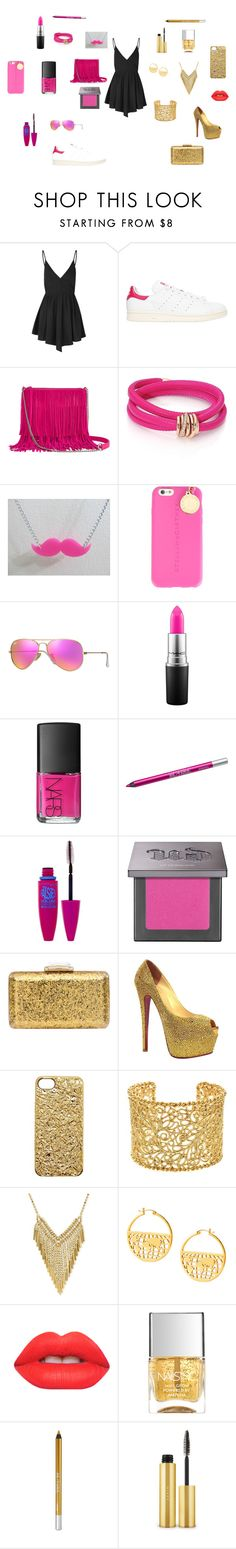 """une robe... deux style"" by lamisslove on Polyvore featuring mode, Glamorous, adidas Originals, Arizona, de Grisogono, STELLA McCARTNEY, Ray-Ban, MAC Cosmetics, NARS Cosmetics et Urban Decay"