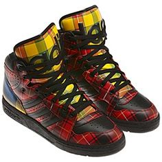 wholesale dealer 631a3 66c2c adidas Jeremy Scott Instinct Hi Shoes Adidas Men, Adidas Shoes, Fall Plaid,  Funky