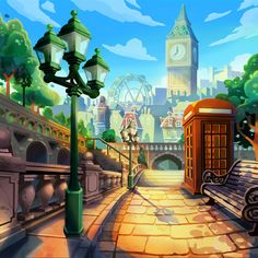 Background art created for the game: Pet Rescue Patrol Saga by King Digital. Cartoon Background, Great Team, Game Design, Animal Rescue, Big Ben, Cool Art, Behance, Pets, House Styles