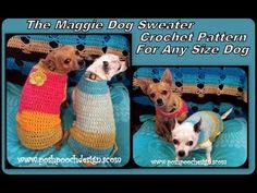 0f45fd9af75f4 Posh Pooch Designs Dog Clothes: The Maggie Dog Sweater For Any and All Size  Dogs