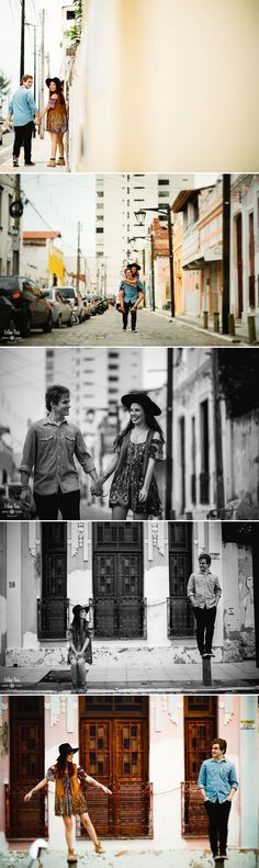 Romantic engagement session pictures. Urban session. Fortaleza city.