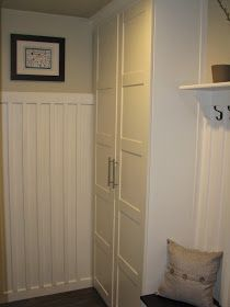 mudroom style and organization using pax wardrobes diy ikea hacks pinterest schrank. Black Bedroom Furniture Sets. Home Design Ideas