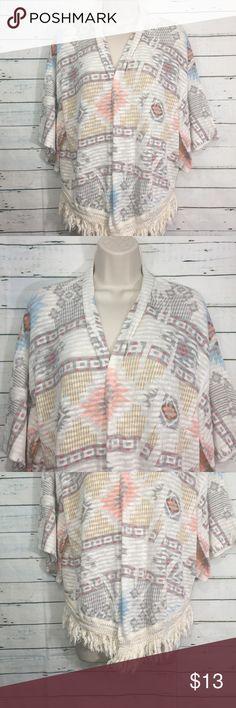 """Mauve Aztec Fringe Cardigan Mauve Aztec Fringe Cardigan. Measurements: bust 20"""", Length 19.5"""" Mauve Sweaters Cardigans"""