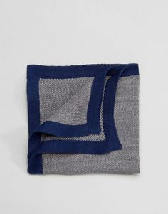 Selected Homme Knitted Pocket Square - Gray
