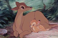Bambi and his mother. Bambi Disney, Walt Disney Movies, Disney Movie Posters, Old Disney, Arte Disney, Vintage Disney, Disney Cartoons, Disney And Dreamworks, Disney Love