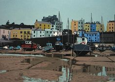 Tenby Harbour complete by Ann Lewis. This linocut is a huge inspiration and a challenge to me in my own work!