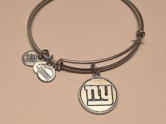 ALEX & ANI NFL NEW YORK GIANTS LOGO EXPANDABLE BANGLE IN RUSSIAN SILVER - http://designerjewelrygalleria.com/alex-ani/alex-ani-nfl-new-york-giants-logo-expandable-bangle-in-russian-silver/