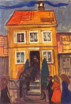 The Athenaeum - The Coffin is Carried Out (Edvard Munch - )