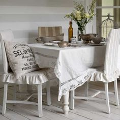 This easy-to-sew cover from Country Homes and Interiors just slips over a dining chair and requires no upholstery skills. For more craft ideas and decorating inspiration go to housetohome.co.uk