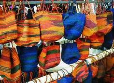 Large shigra bags -Market in Octavalo Equador