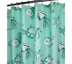 Watershed 2 In 1 Sea Life 72x72 Shower Curtain