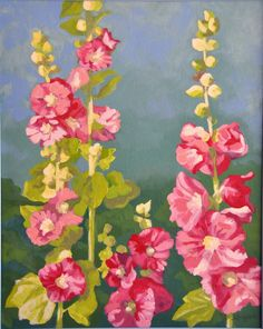 17 Best images about Floral Watercolor Watercolor Flowers, Watercolor Art, Hollyhocks Flowers, Gravure Illustration, Watercolor Paintings For Beginners, Cool Paintings, Painting Inspiration, Flower Art, Painting & Drawing