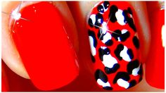 Cute nails art design 2014 EASY - Leopard Red