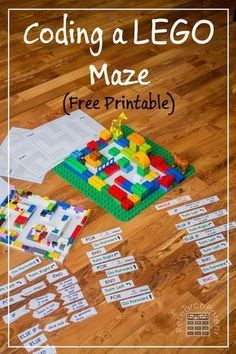 Coding a LEGO Maze - Free, printable activity for teaching programming concepts to kids of all ages (Cool Tech For Kids) Lego Activities, Steam Activities, Computer Activities For Kids, School Age Activities, Enrichment Activities, Educational Activities, Stem Projects, Lego Projects, Engineering Projects