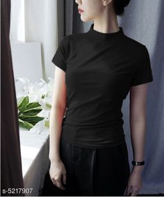 Tshirts Trendy  Stylish Women's T Shirts Fabric: Cotton Sleeve Length: Short Sleeves Pattern: Solid Multipack: 1 Sizes: S (Bust Size: 36 in Length Size: 25 in) XL (Bust Size: 42 in Length Size: 25 in) XS (Bust Size: 34 in Length Size: 25 in) L (Bust Size: 40 in Length Size: 25 in) M (Bust Size: 38 in Length Size: 25 in) Country of Origin: India Sizes Available: XS, S, M, L, XL   Catalog Rating: ★3.9 (7745)  Catalog Name: Classy Fashionista Women Tshirts CatalogID_772460 C79-SC1021 Code: 902-5217907-924