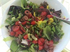 Salad w/ chopped kalamata olives